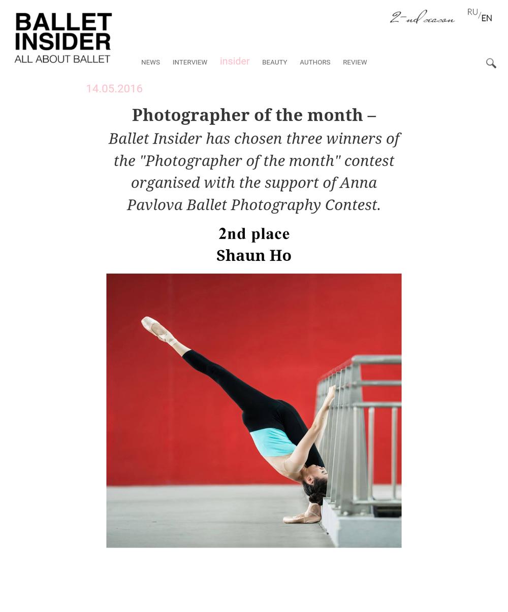 Ballet Insider