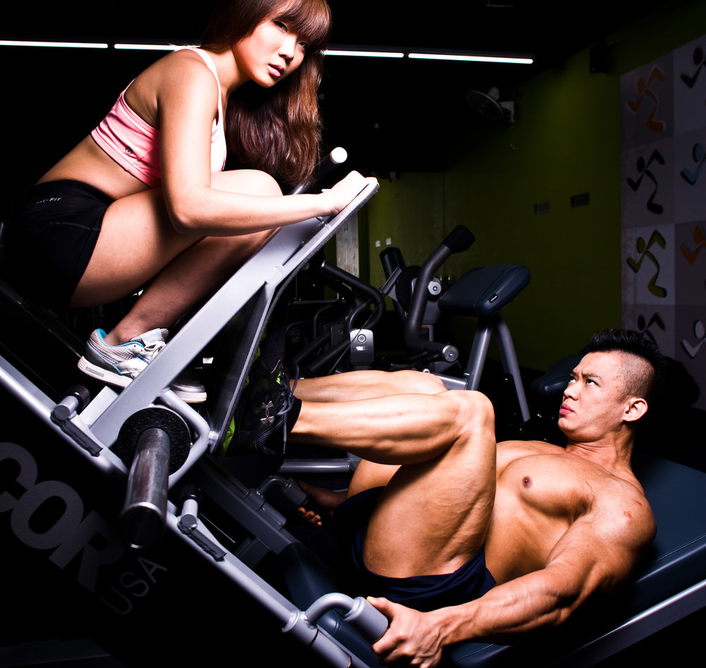 Lai Wee Kiat and Clarice Yeo in the Gym.