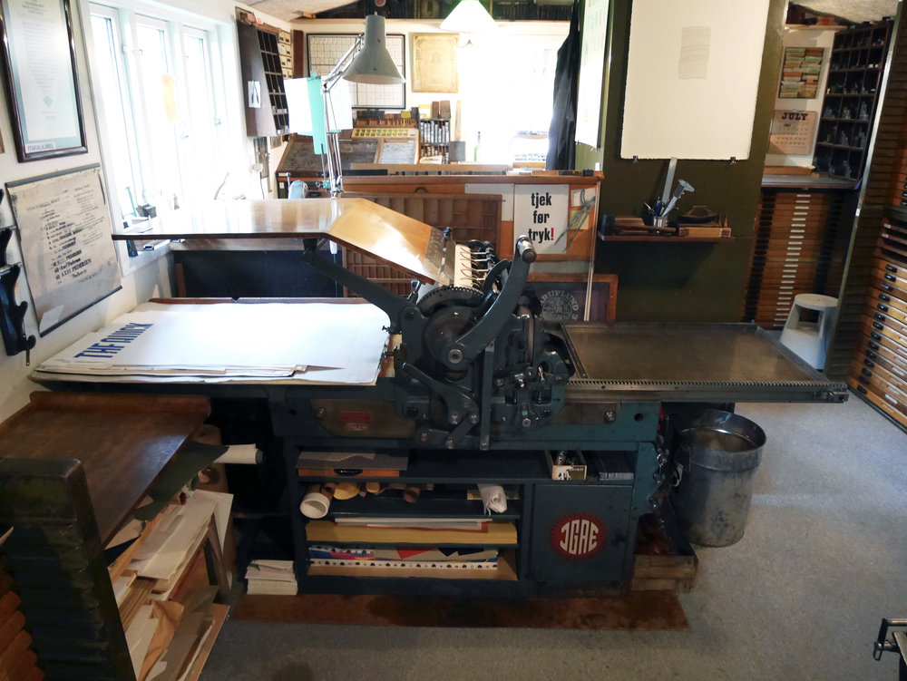 Our beloved beast for the week – Danish Eickhoff proofpress from 1963