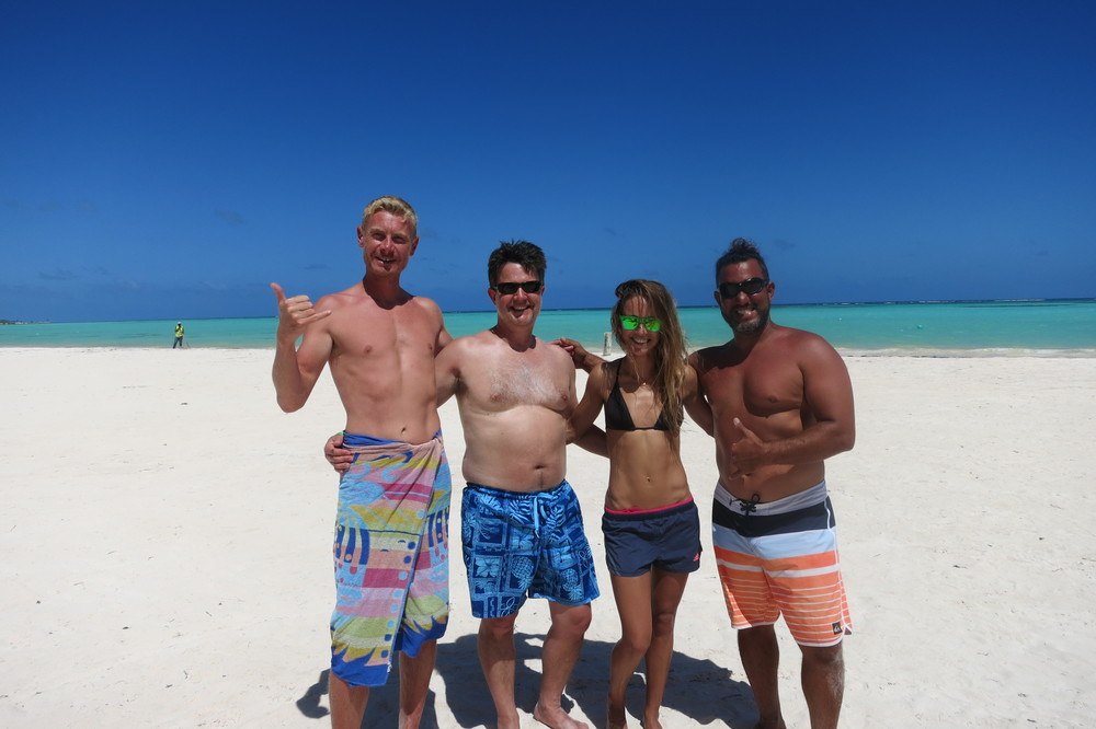 From left to right - James, Struan, Anna, and Felipe