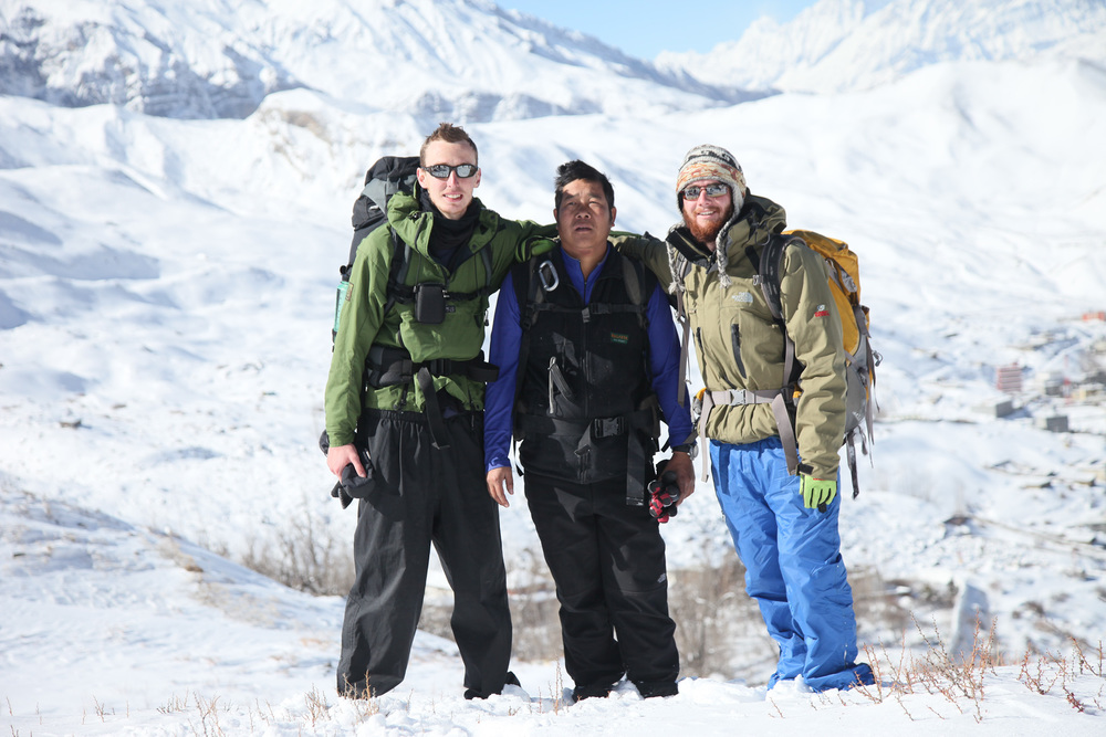 Sam (Right) and his guide (Middle)