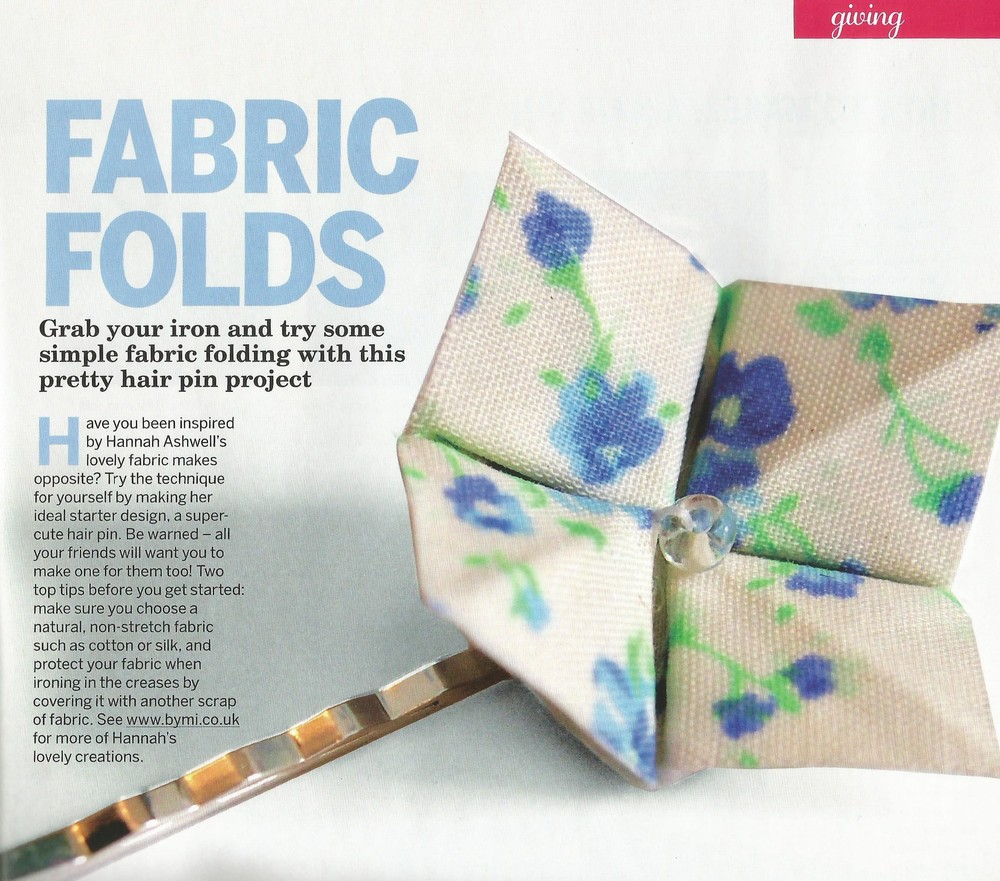 Easy Origami magazine origami flower hair grip tutorial