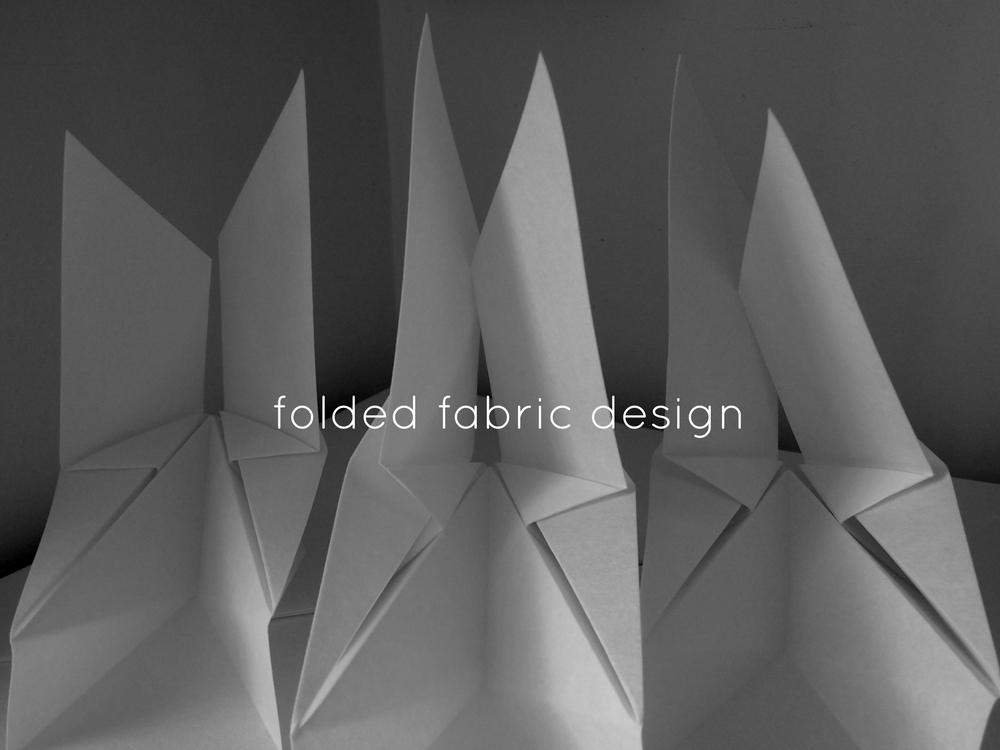 textile origami folded fabric design