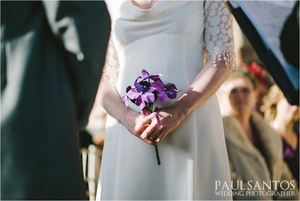 Silk Origami Violet Bridal Posy