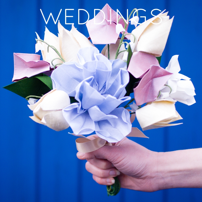bY Mi Origami wedding bouquet edinburgh scotland
