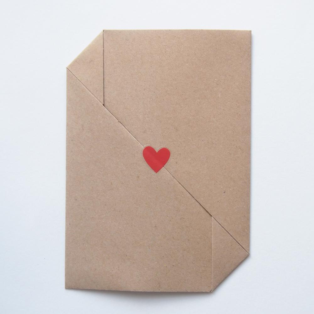 Origami envelope wedding invitation
