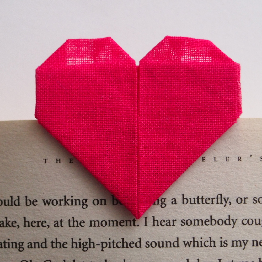 Origami Heart Bookmark, Card, Save the Date, Wedding Invite, bY Mi