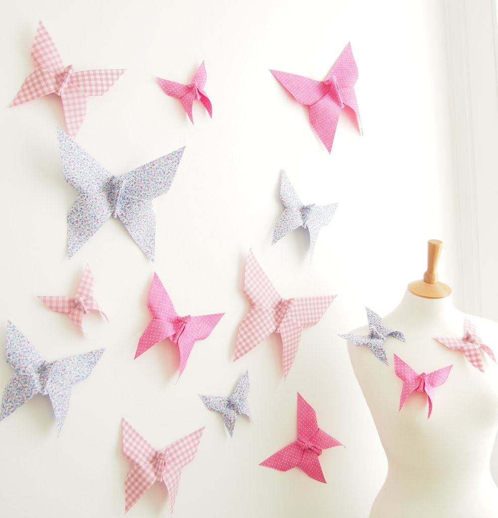 Origami Butterflies for Wedding Nursery Decor