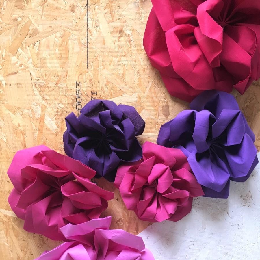 Textile Origami Flower Workshop 8918 Workshops By Mi