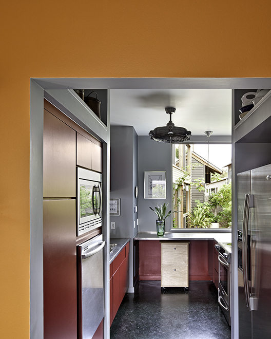 Kitchen, Devine Street Residence, San Antonio, Texas, 2009. Photo by Chris Cooper Photography