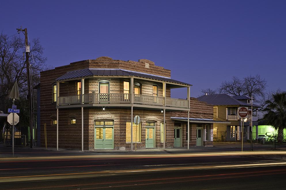 "Rehabilitation of historic building facade, ""El Picoso"", San Antonio, Texas, 2008. Photo by Chris Cooper Photography"