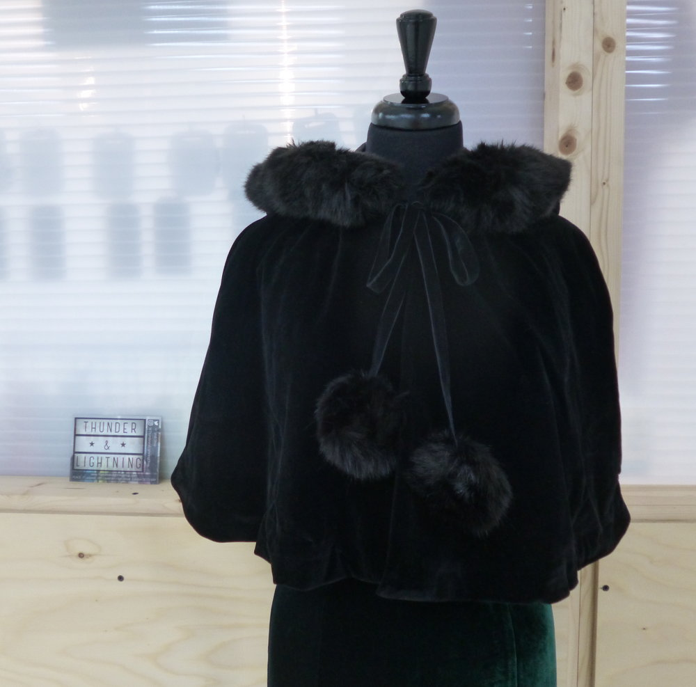 Collectif Paige Velvet Cape
