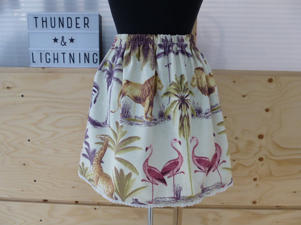 African Animal Print Skirt - Size L - By Vintage Style Me - £30.00