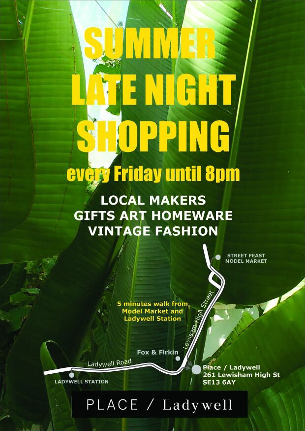 Place Ladywell Late Night Shopping Poster