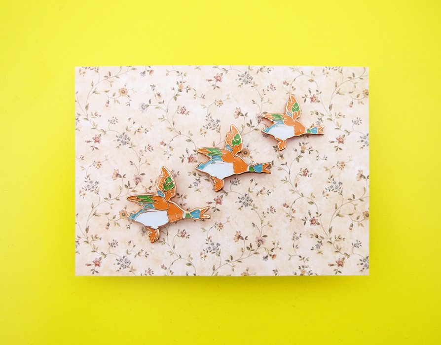 Flying Ducks Pins by Luke Drozd