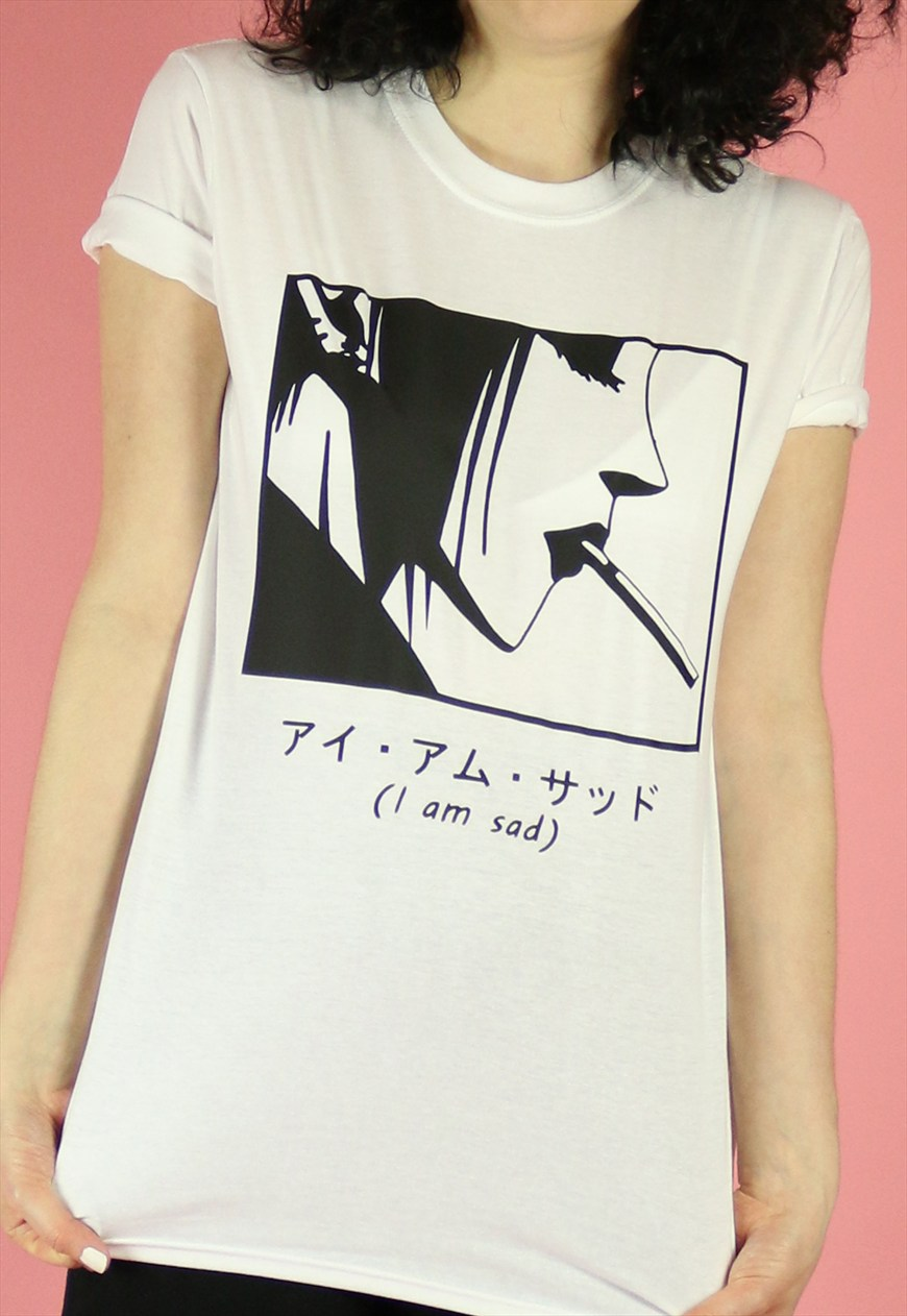I am Sad anime tee by Dogbreath