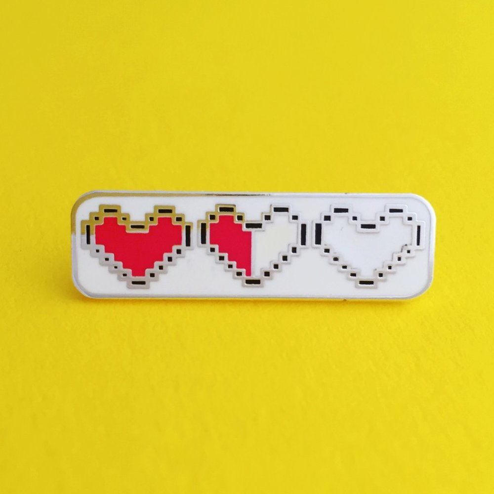 Zelda Heart Level   Pin - Enamel Pin designed by Hand Over Your Fairy Cakes in Glasgow // £7