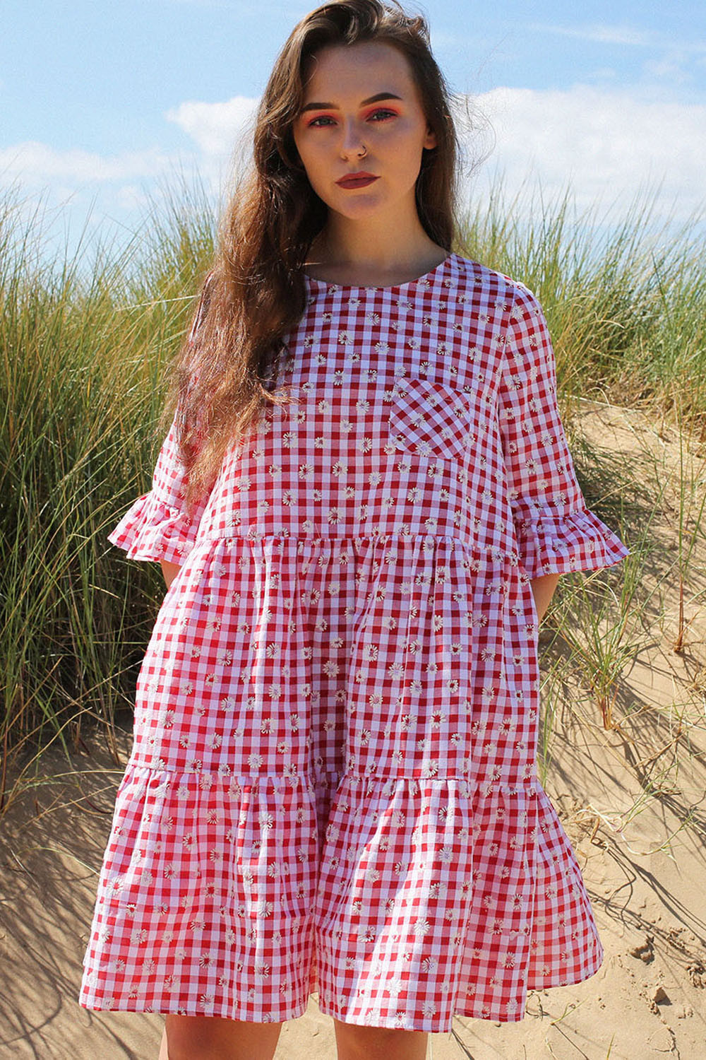 Sophie Gingham Smock Dress - Was £55 Now £33