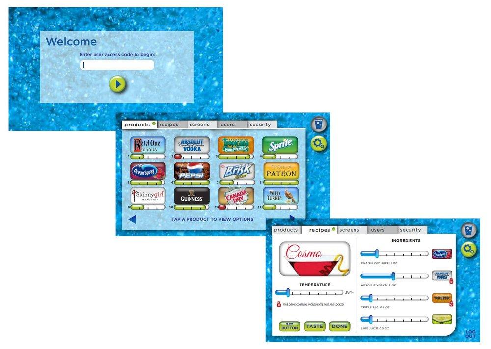Mockup user interface for beverage machine