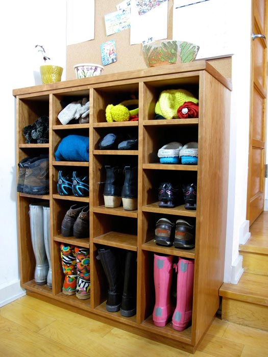 Gentil This Custom Built Shoe Organizer Maximizes Space In The Entryway; The  Shelves Were Made To Fit Shoes, Both Flat And Tall, As Well As Winter Items  Such As ...