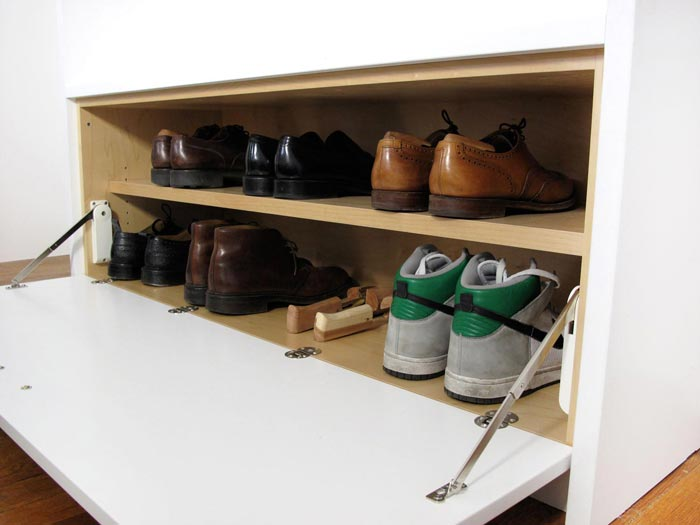 Custom shoe storage