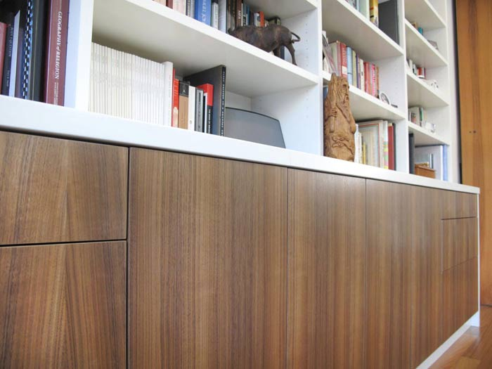 Cabinets in walnut