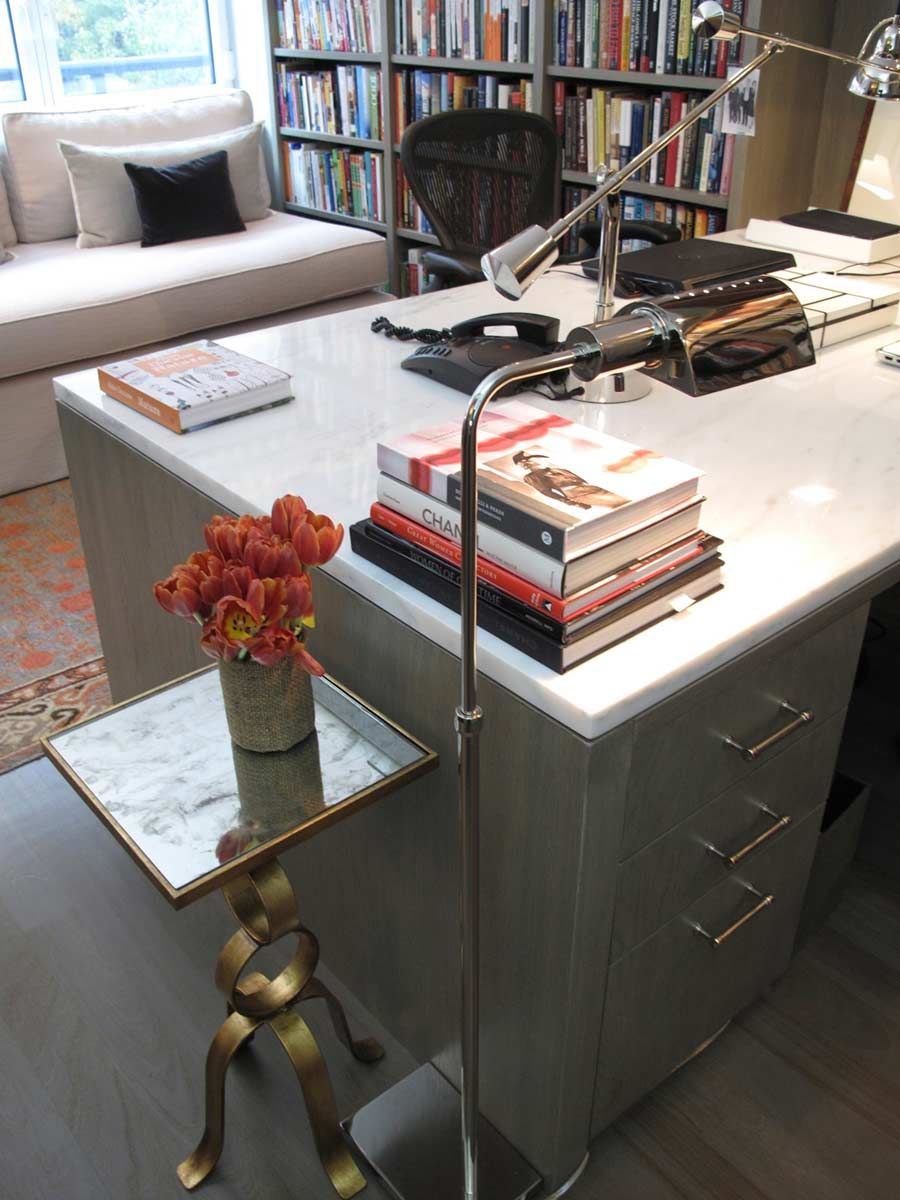 Custom Home Offices Nyc Design Desks Library