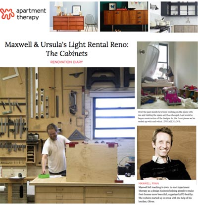 Custom cabinets for Maxwell Ryan.