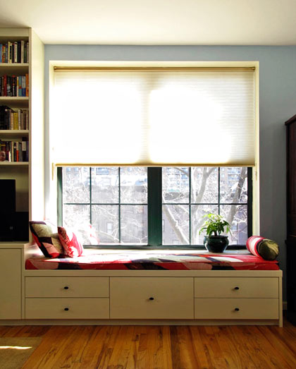 Custom built-in window bench