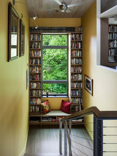 Window seat and built-ins- Photo by Sarah Nettleton Architects