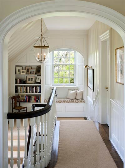 Hallway window nook- Photo E.B. Mahoney Builders, Inc.