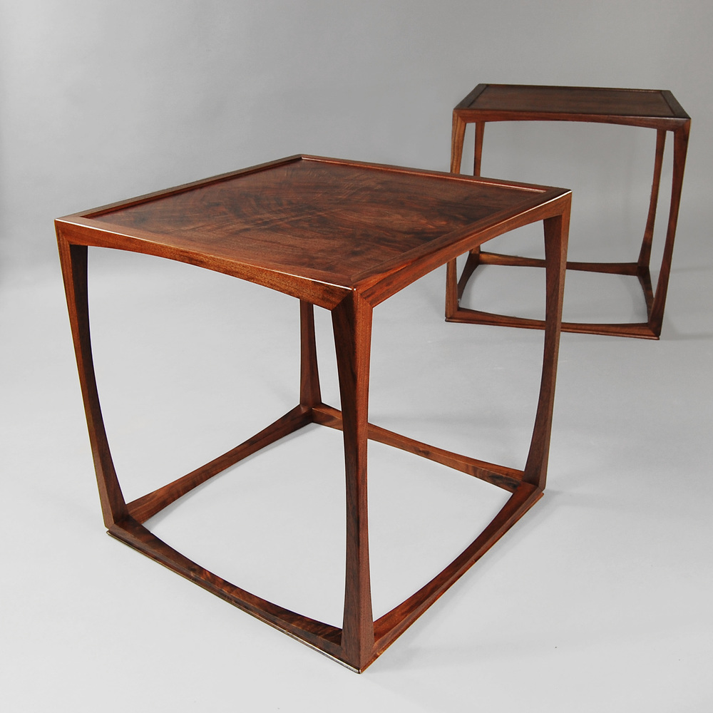 Swell side tables in Walnut