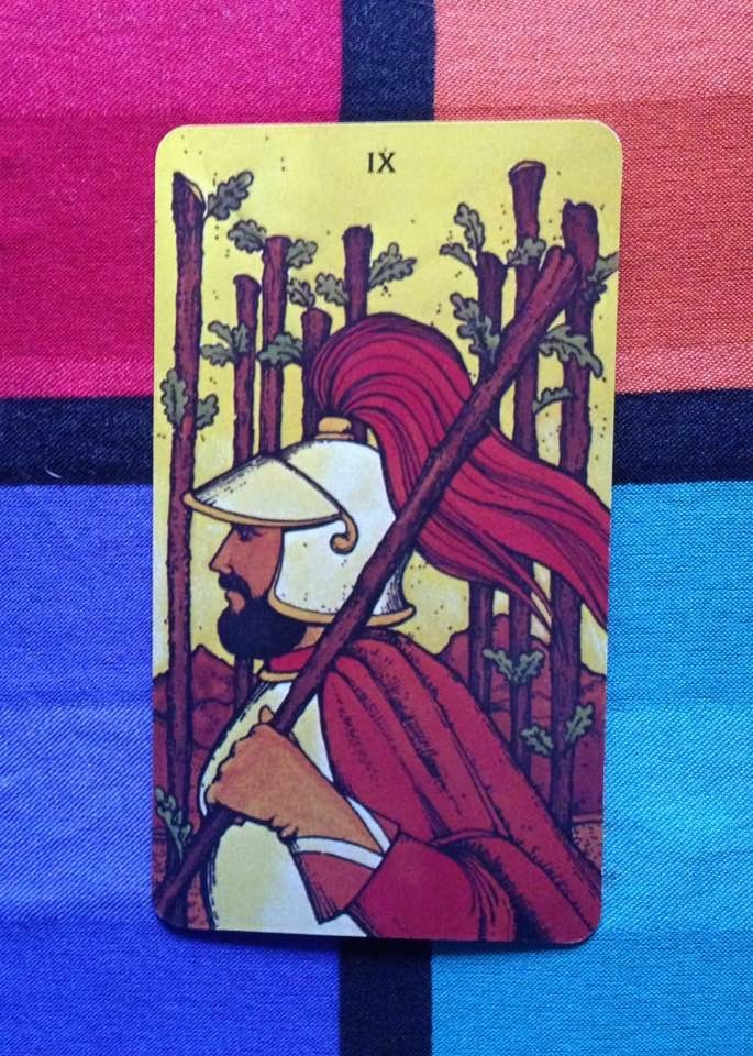 Card is from the Morgan-Greer Tarot, published 1979.