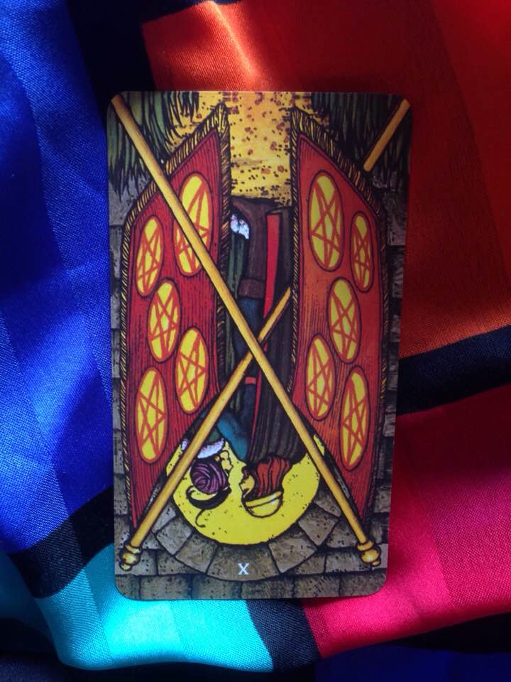 This card is from the Morgan-Greer Tarot, published 1979.