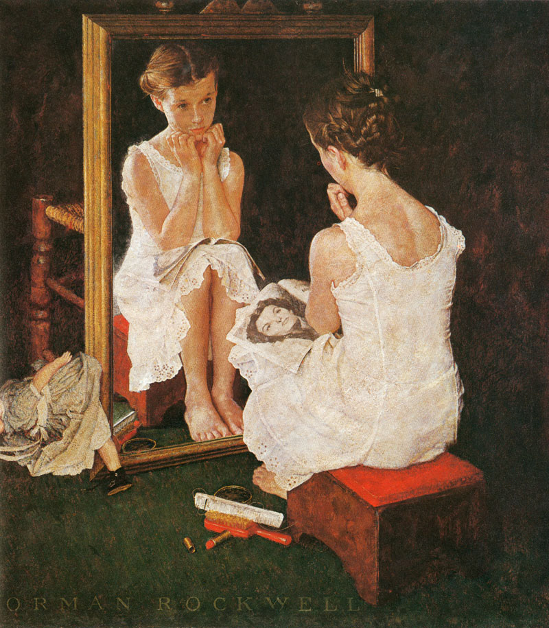 Rockwell_girl_at_the_mirror_oil_1954