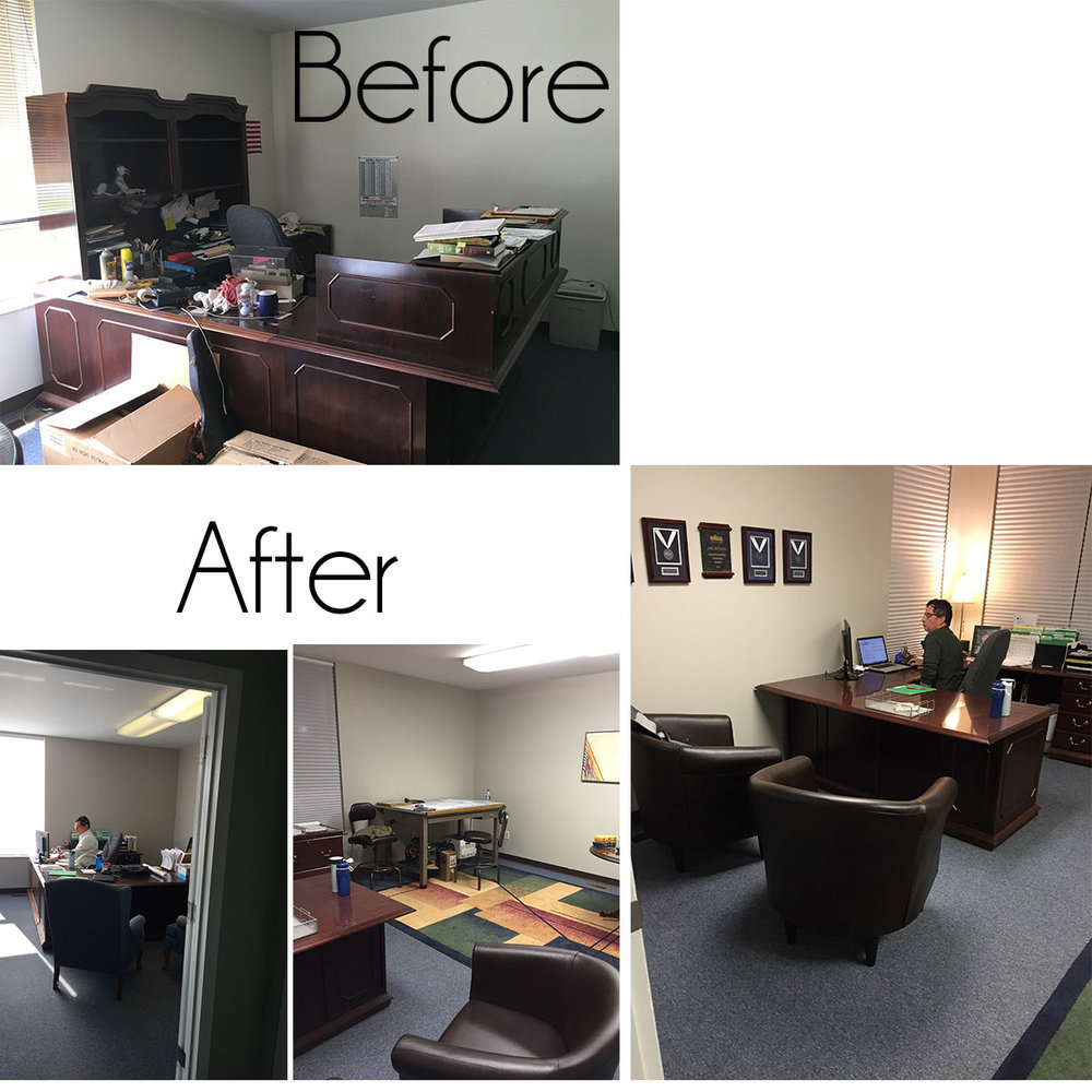 Jim's new office.