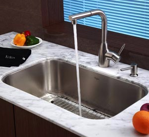 One option for an under mount sink.