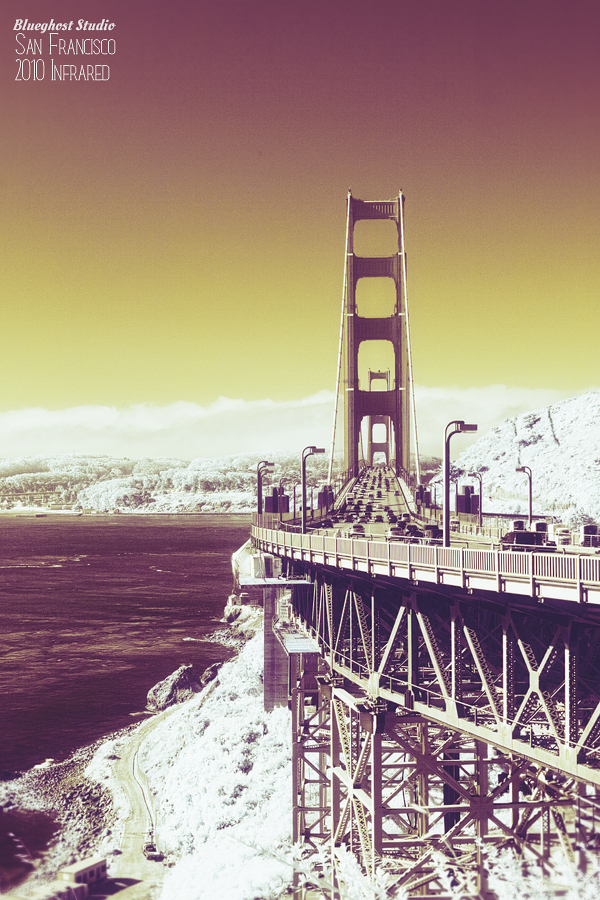 san francisco bridge infrared