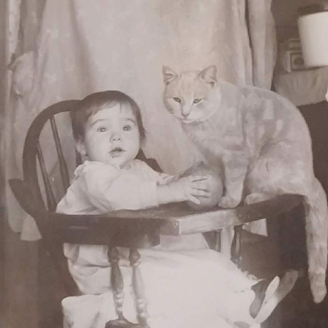 "Today would have been my mother's 79th birthday. ♥ Check out this fine looking pussy cat with my ""baby mama""!"