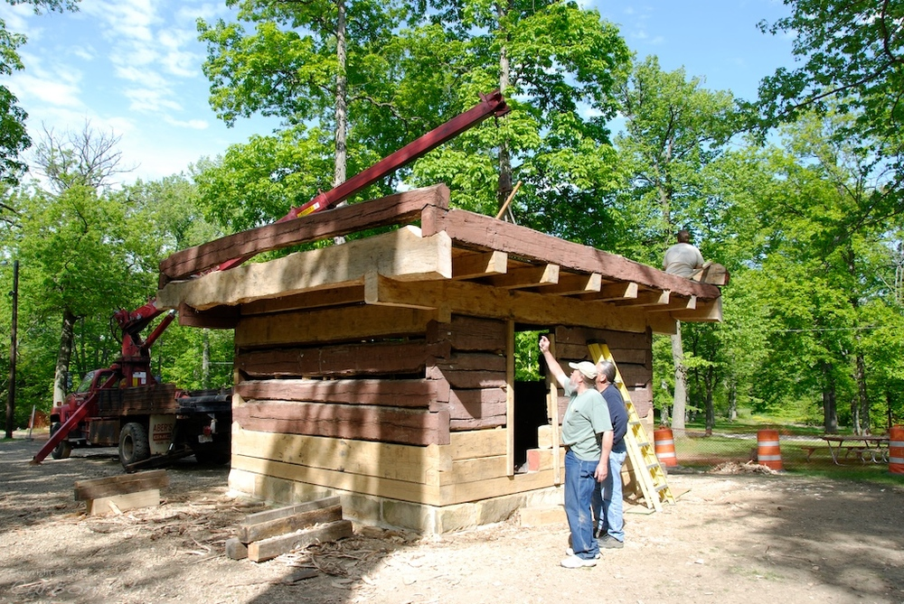 Restoring a landmark Blockhouse constructed during the war of 1812.
