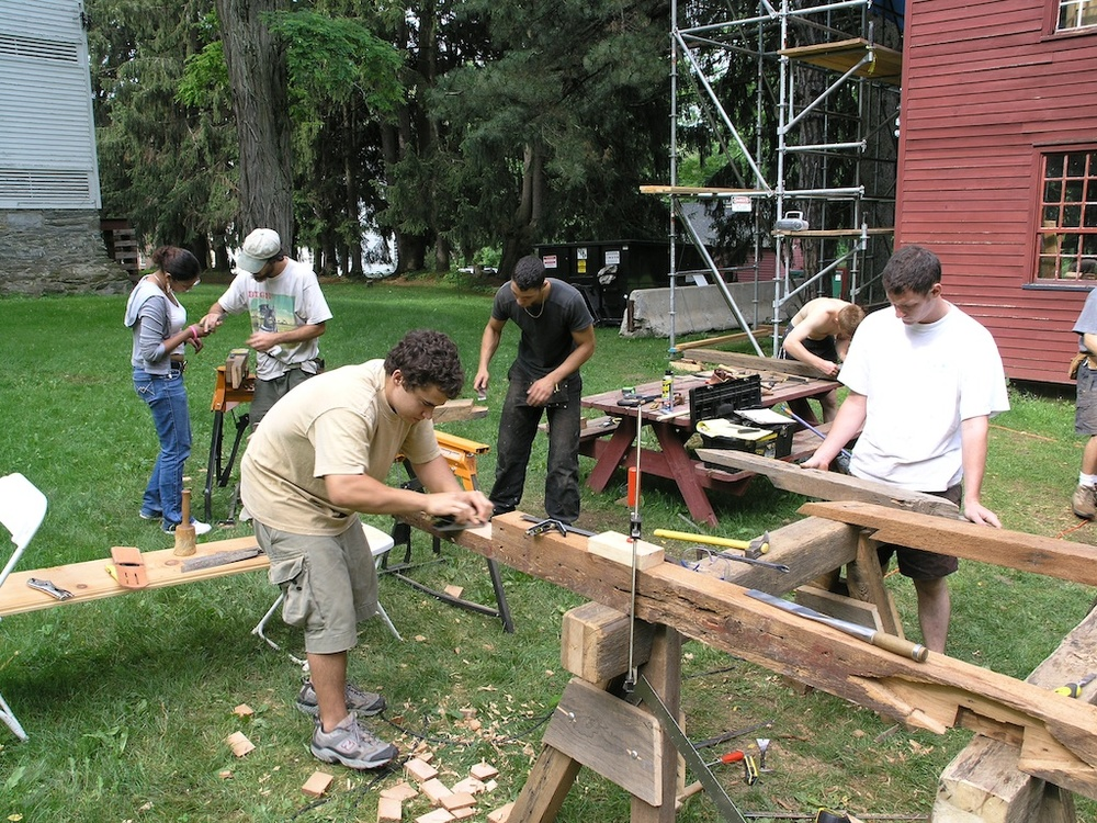 Mt. Lebanon Shaker Village field school, 2006. The village's Granary building was fully restored in the course of this project.