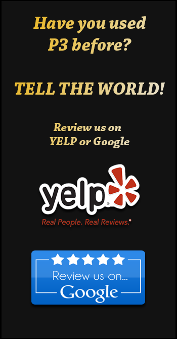 Review P3 on Yelp or Google