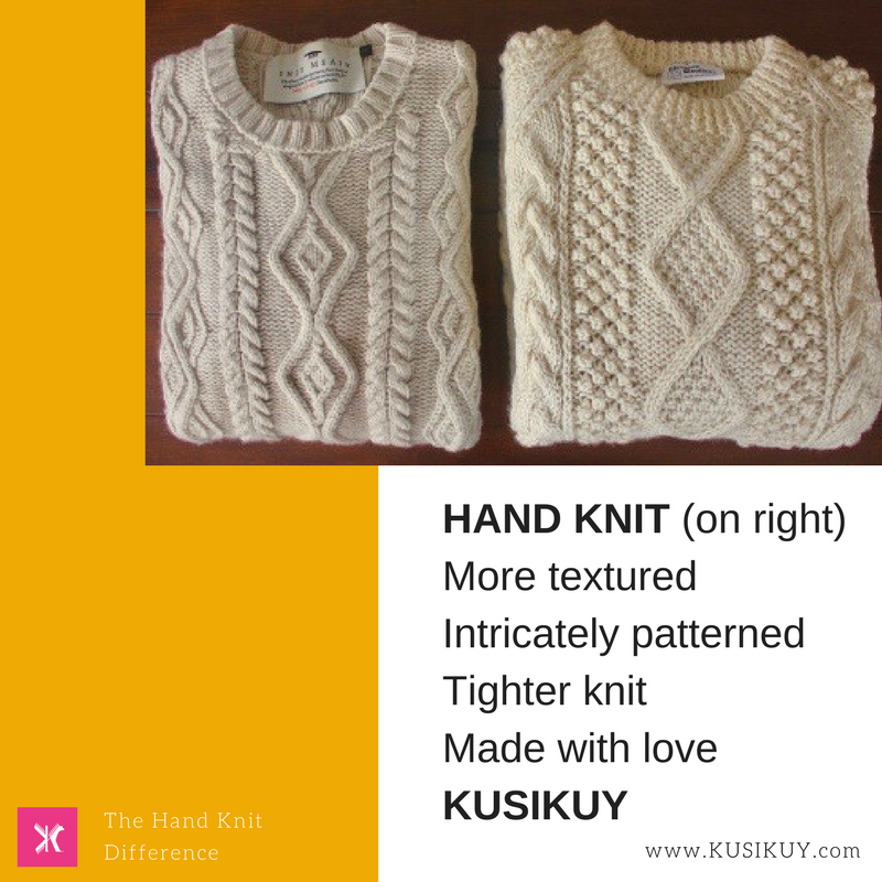 Hand Knit difference