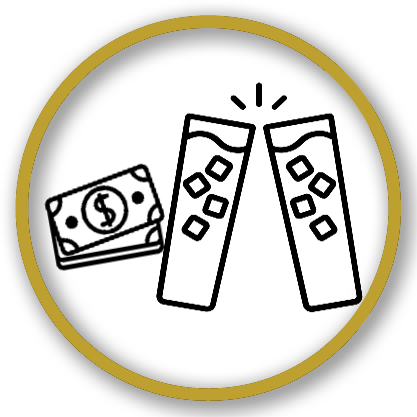 Money drink icon