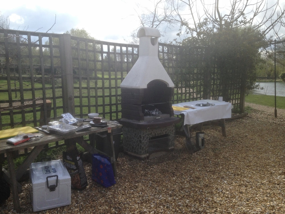 Our new masonry barbecue.