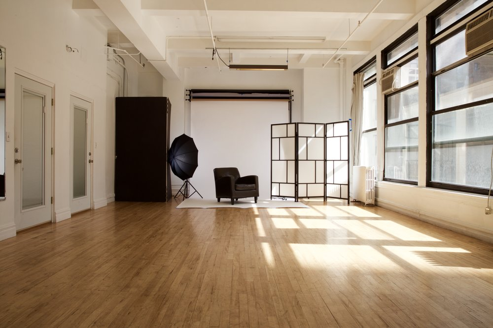 STUDIO 1 - Photo: $50/hr, $375/day.  Video:  $60/hr, $450/day