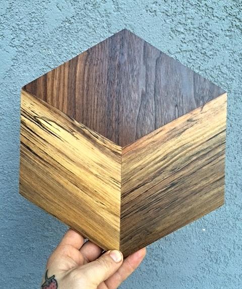Optical Illusion Cheese Board