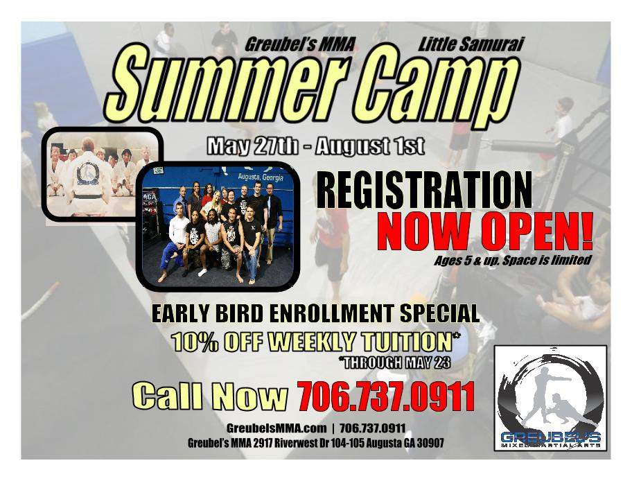 Facebook Little Samurai Summer Camp Flyer