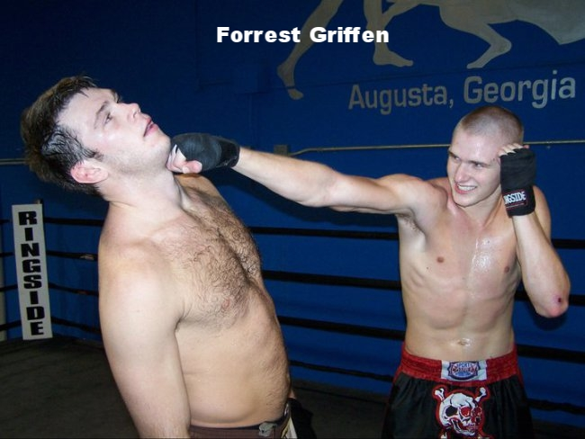 UFC champ, Forrest Griffin and student
