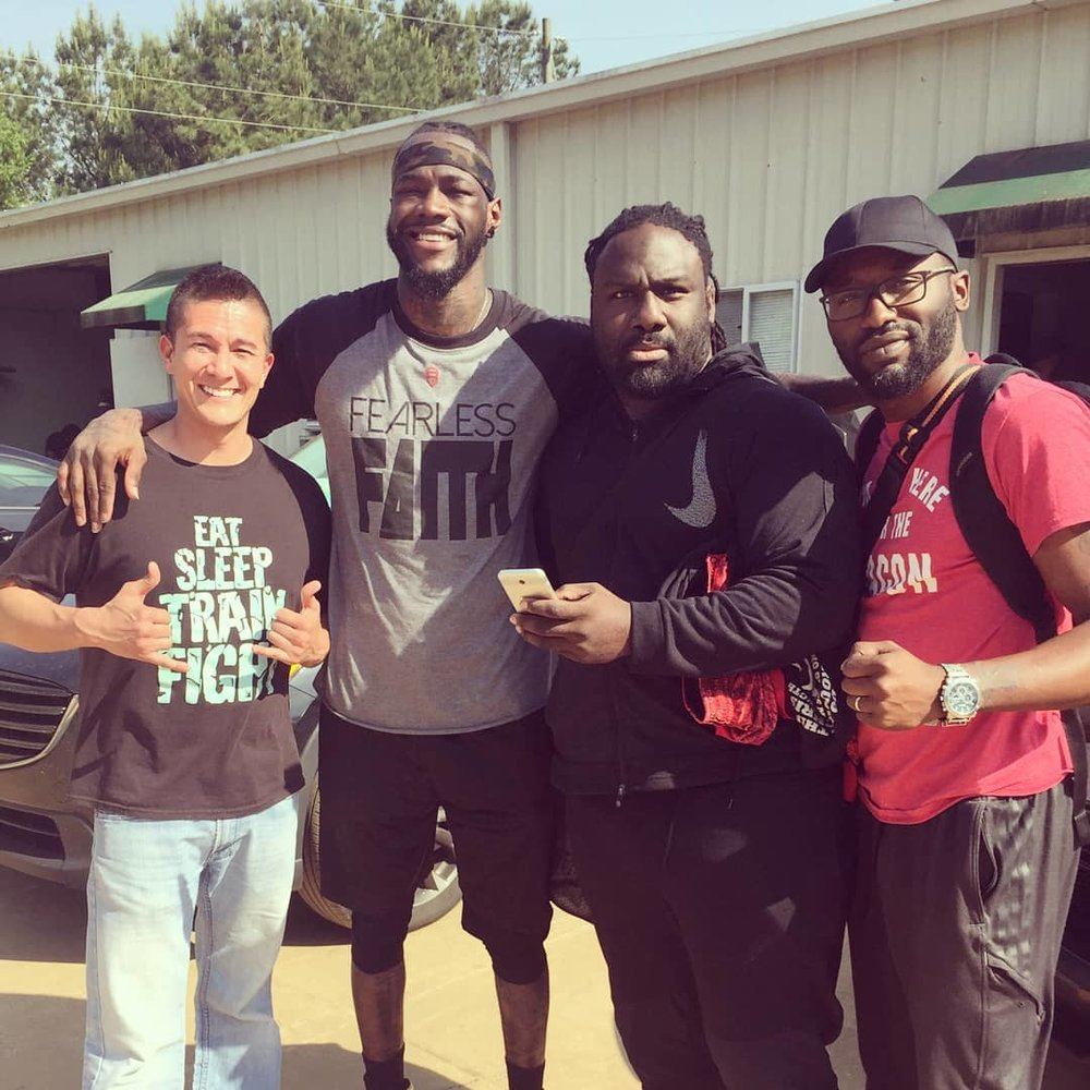 Deontay Wilder! - Met and trained at Heavy Weight World Champion's gym in Tuscaloosa, Alabama.
